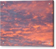 Sunset Clouds Acrylic Print by Mark Bowden