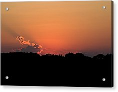 Sunset Clouds Acrylic Print by Mark Russell