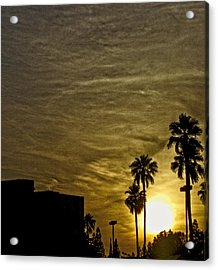 Sunset Clouds Acrylic Print by Marquis Crumpton