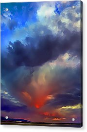 Sunset Clouds Over Albuquerque Acrylic Print by Wernher Krutein