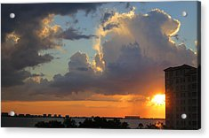 Sunset Shower Sarasota Acrylic Print