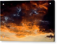 Sunset Clouds Acrylic Print by Terry Thomas
