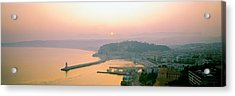 Sunset Cote Dazur Nice France Acrylic Print by Panoramic Images