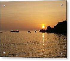Sunset Crooklets Beach Bude Cornwall Acrylic Print