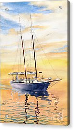 Sunset Cruise Acrylic Print by Melly Terpening