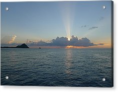 Acrylic Print featuring the photograph Sunset Cruise - St. Lucia 2 by Nora Boghossian