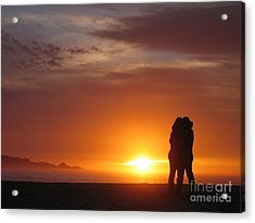 Sunset Cuddle Acrylic Print by James B Toy