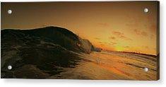 Sunset Curl Acrylic Print by Daniel Rainey