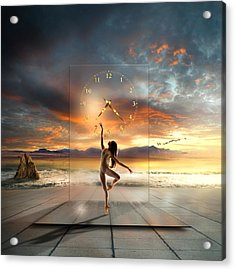 Sunset Dancing Acrylic Print