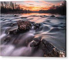 Sunset Acrylic Print by Davorin Mance