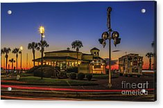 Acrylic Print featuring the photograph Sunset Diner by Paula Porterfield-Izzo