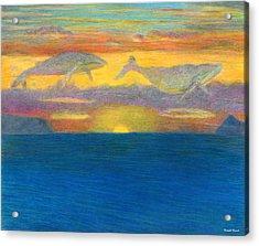 Sunset Drifters Acrylic Print by Kenneth Grzesik