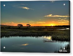 Sunset Acrylic Print by Ed Roberts