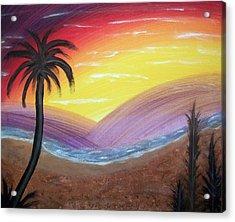 Sunset Escape Acrylic Print by Lora Mercado
