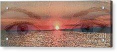 Sunset Eyes Inspirational Art By Saribelle Rodriguez Acrylic Print by Saribelle Rodriguez
