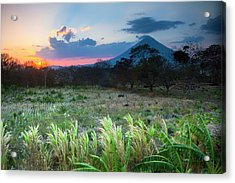 Sunset Falls Behind The Concepcion Acrylic Print