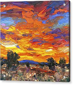 Sunset Fantasy Acrylic Print by Steven Boone