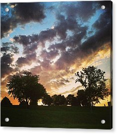 Acrylic Print featuring the photograph Sunset Federal Hill by Toni Martsoukos