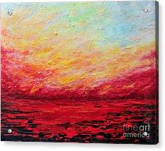Sunset Fiery Acrylic Print by Teresa Wegrzyn