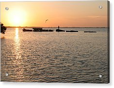 Sunset Fish Acrylic Print