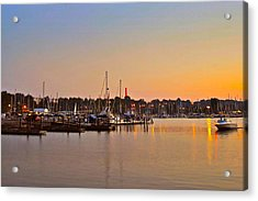 Sunset Fishing Acrylic Print by Frozen in Time Fine Art Photography