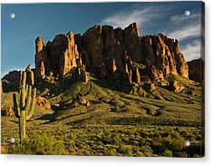 Sunset, Flat Iron Mountain, Lost Acrylic Print
