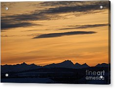 Acrylic Print featuring the photograph Sunset From 567 by Ann E Robson