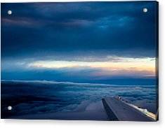 Acrylic Print featuring the photograph Sunset From Above The Clouds by Cathy Donohoue