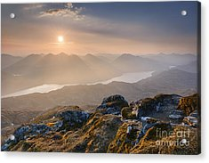 Sunset From Ben Lomond Acrylic Print by Rod McLean