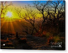 Sunset From Blood Mountain Acrylic Print