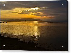 Sunset From Fields Landing Acrylic Print