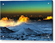 Sunset From Mauna Kea Acrylic Print by Karl Voss