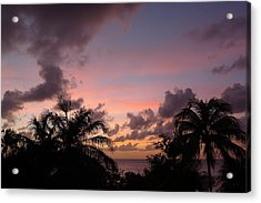 Sunset From Terrace 3 St. Lucia Acrylic Print