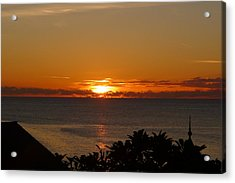 Sunset From Terrace - St. Lucia 2 Acrylic Print