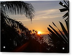 Sunset From Terrace - St. Lucia Acrylic Print