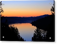 Sunset From The Deck Acrylic Print