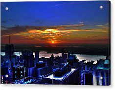 Sunset From The Empire State Building Acrylic Print by Randy Aveille