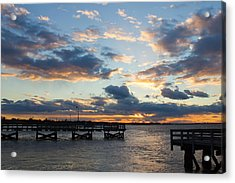 Acrylic Print featuring the photograph Sunset From The Fishing Piers by Jose Oquendo