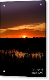 Acrylic Print featuring the photograph Sunset From The Huntington Beach Causeway by Kathy Baccari