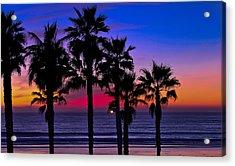 Sunset From The Ocean Park Inn Acrylic Print