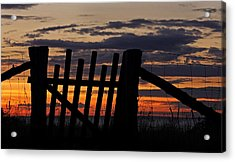 Acrylic Print featuring the photograph Sunset Gate by Inge Riis McDonald