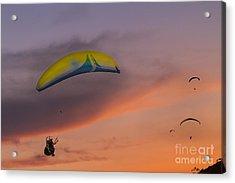 Sunset Gliders Acrylic Print by Soren Egeberg