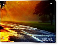 Sunset Glint In The Mist Acrylic Print