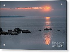 Sunset Glow At Awenda Beach Acrylic Print