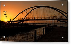 Acrylic Print featuring the photograph Sunset Glow by Kim Andelkovic