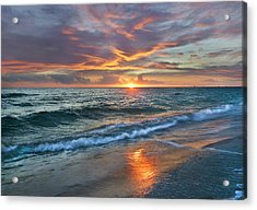 Acrylic Print featuring the photograph Sunset Gulf Islands National Seashore by Tim Fitzharris