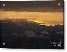 Acrylic Print featuring the photograph Sunset by Gunnar Orn Arnason