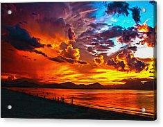 Sunset Happiness Acrylic Print