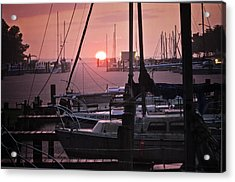 Sunset Harbor Acrylic Print by Kelly Reber
