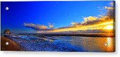 Sunset Haystack Rock Acrylic Print